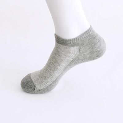 2019新款男袜 船袜AB色+纯色 15双/包 浅灰+深灰