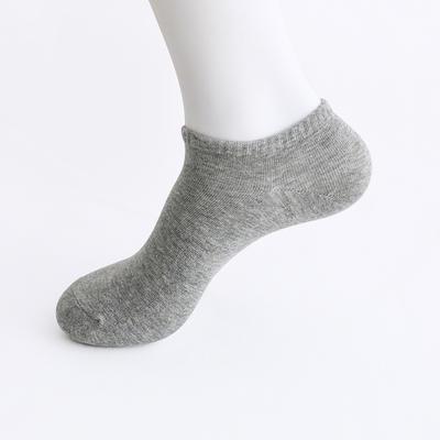 2019新款男袜 船袜AB色+纯色 15双/包 深灰
