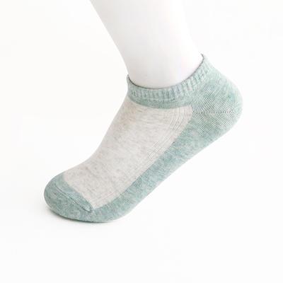 2019新款女袜 船袜AB色+纯色 15双/包 白色+绿色