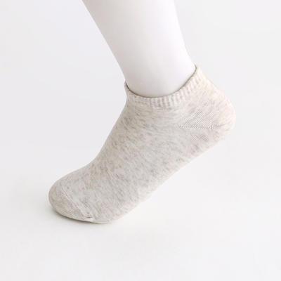 2019新款女袜 船袜AB色+纯色 15双/包 白色