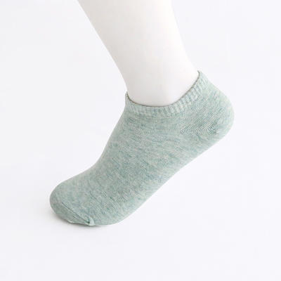 2019新款女袜 船袜AB色+纯色 15双/包 绿色