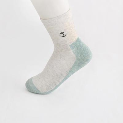 2019新款女袜 高筒AB色+纯色 30双/包 白+绿
