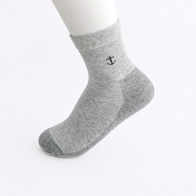 2019新款女袜 高筒AB色+纯色 30双/包 浅灰+深灰