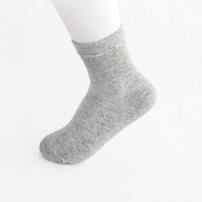 2019新款女袜 高筒AB色+纯色 30双/包 浅灰