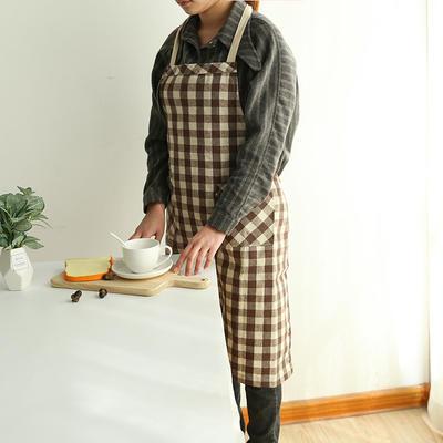 2019新款围裙(格子) 75*85cm 咖啡格