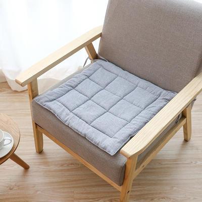 2019新款棉麻坐垫 45x45cm 蓝