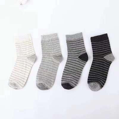 2019新款男女条纹  高筒袜 15双/包 男款 浅灰条