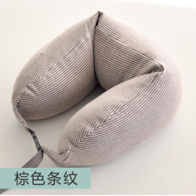 2019新款颈枕腰枕 棕色15.5*65cm