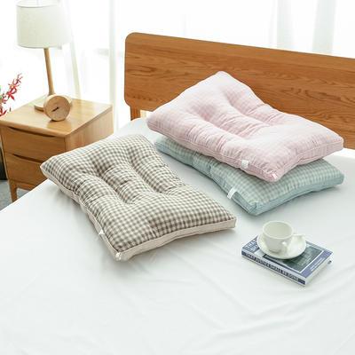 2019新款色纺纱枕芯 绿色48*74cm