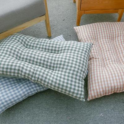 2019新款水洗棉枕芯 粉格48*74cm