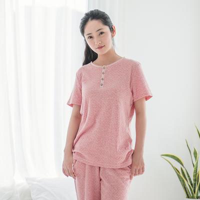 2019新款色纺纱针织棉氨家居服 M码 红白点 女款