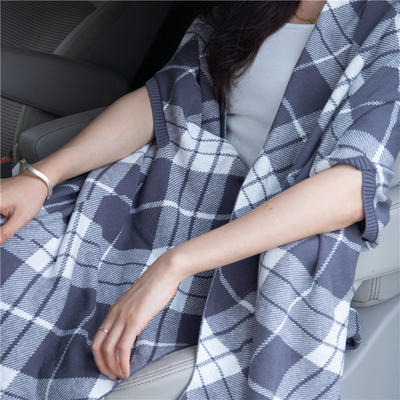 2019新款披肩毯 100cmx160cm 灰度几何