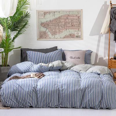 2019新款天竺棉系列四件套 1.2m床单款三件套 蓝灰中