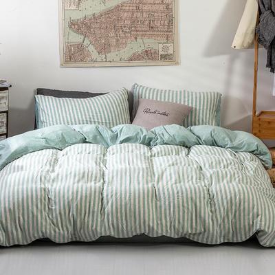 2019新款天竺棉系列四件套 1.2m床单款三件套 绿中