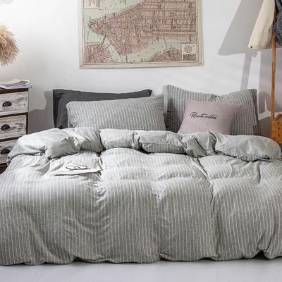 2019新款天竺棉系列四件套 1.2m床笠款三件套 浅灰窄