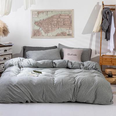 2019新款天竺棉系列四件套 1.2m床单款三件套 深灰窄