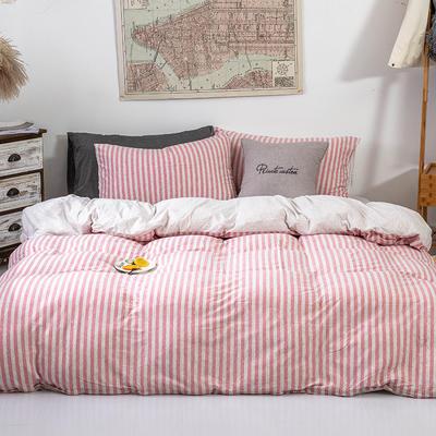 2019新款天竺棉系列四件套 1.2m床单款三件套 棕红中