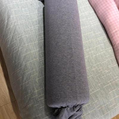 2019新款糖果枕 蓝灰18*60cm