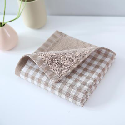 2019新款毛巾 咖格34*76cm