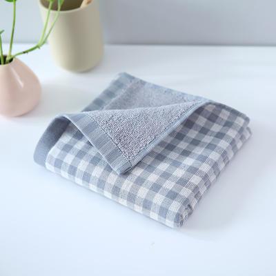 2019新款毛巾 灰格34*76cm