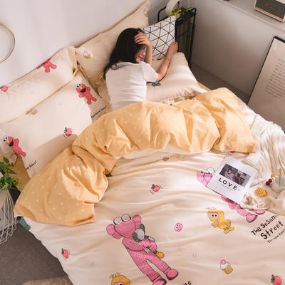 2019新款13372全棉四件套 1.2m三件套床单款 奥斯卡
