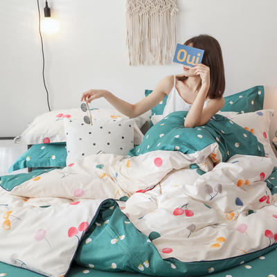 2019新款13372全棉四件套 1.2m三件套床单款 爱洛花园
