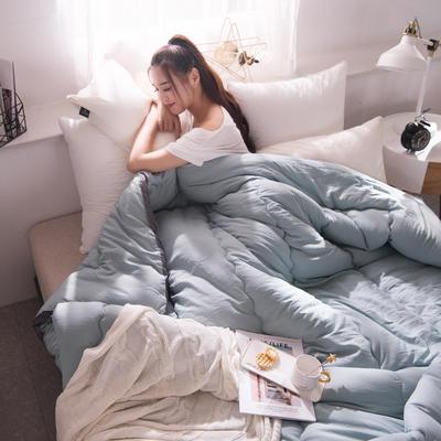 2019水洗棉冬被 1.5m 4斤 雾霾蓝
