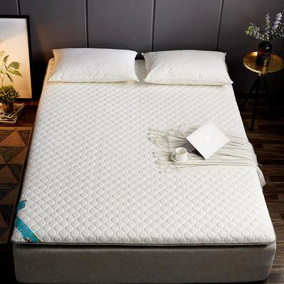 2019新款乳胶硬质棉海绵床垫 90*200 白色蜂巢纹(6cm)