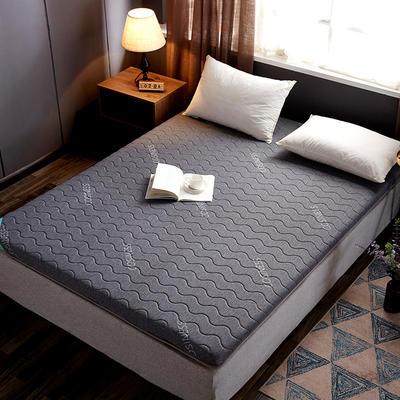 2019新款乳胶硬质棉海绵床垫 90*200 灰色波浪纹(6cm)