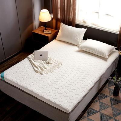 2019新款乳胶硬质棉海绵床垫 200*220 米色波浪纹(10cm)