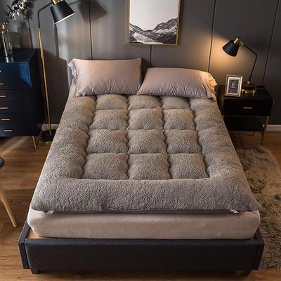 2020新款羊羔绒床垫 90*200 灰色