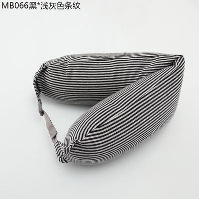 2019新款u型枕 黑.浅灰色条纹 约16.5*67CM