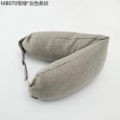 2019新款u型枕 军绿.灰色条纹 约16.5*67CM