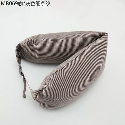 2019新款u型枕 咖.灰色细条纹 约16.5*67CM