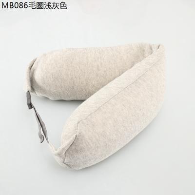 2019新款u型枕 毛圈浅灰色 约16.5*67CM