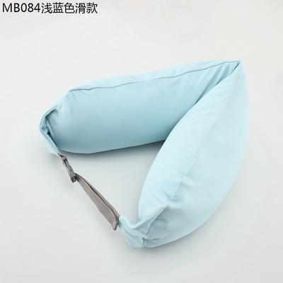 2019新款u型枕 浅蓝色滑款 约16.5*67CM