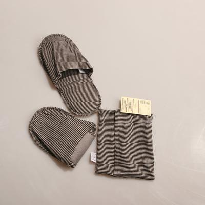 2019新款便携拖鞋 22-24CM 咖条纹
