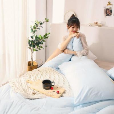 2019新款-针织棉刺绣冬被被子被芯 150x200cm 5斤 浅蓝