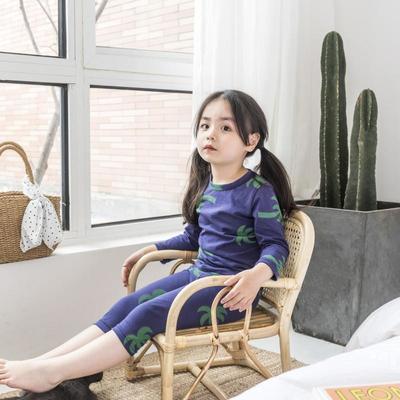 2019新款-家居服儿童款 100码 槿木椰树