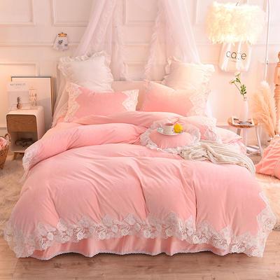 2019新款水晶绒-仙子四件套 1.2m床裙款三件套 玉色