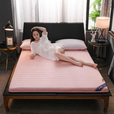 2019新款乳膠硬質棉床墊(時尚款) 0.9*2.0m 時尚粉色