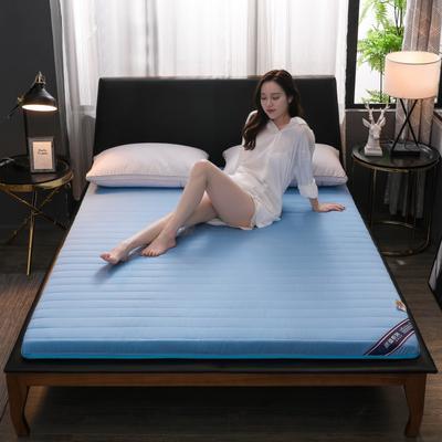 2019新款乳膠硬質棉床墊(時尚款) 0.9*2.0m 時尚藍色