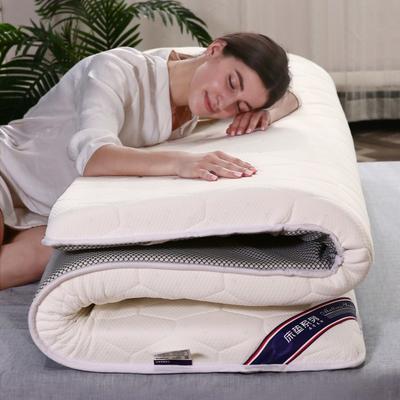 2019新款乳膠硬質棉床墊(珍珠款) 0.9*2.0 珍珠白5cm