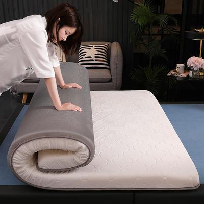 2020新款水晶绒乳胶海绵床垫单边(灰色系列) 0.9*2.0米 水晶绒灰色(6cm)