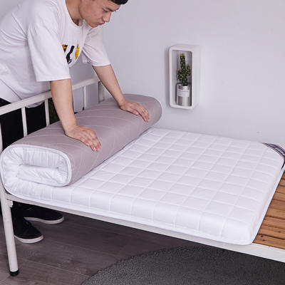2020新款学生宿舍全棉硬质棉床垫(方格款) 0.8*1.9米 学生垫方格白(5cm)