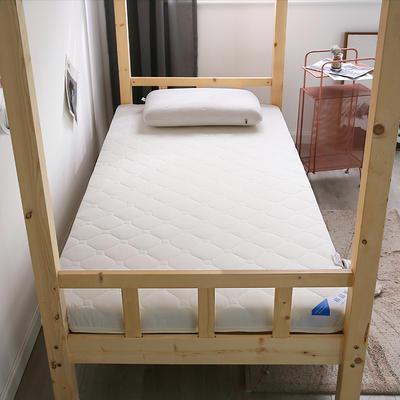 2020新款學生硬質棉磨毛隔水床墊(畫格款) 0.8*1.9米 白色(5cm)