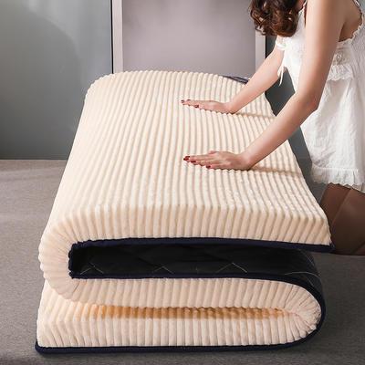 2020新款硬质棉贝贝绒床垫(靓丽款) 0.8*1.9米 靓丽白(5cm)