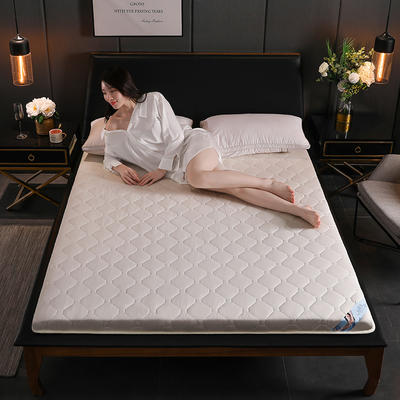 2020新款硬質棉磨毛隔水床墊(畫格款) 1.0m(3.3英尺)床 畫格-白(5cm)