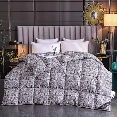 2020新款120支柔赛丝印花羽绒被冬被被子被芯 160x210cm  4.5斤 魅颜