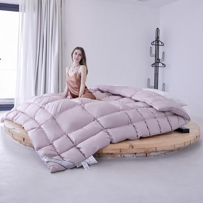 2020新款100支柔赛不规则面包鹅绒被冬被被子被芯 200x230cm95白鸭绒  5斤 豆沙